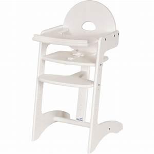 chaise haute bebe filou blanche de geuther With chambre bébé design avec fleuriste qui livre a domicile