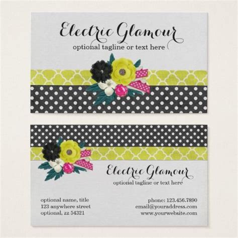 glam flowers neon ribbon modern girly boutique business