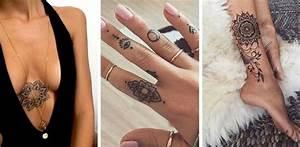 Tatouage De Femme : tatouage mandala 50 motifs mandala pour se faire tatouer ~ Melissatoandfro.com Idées de Décoration