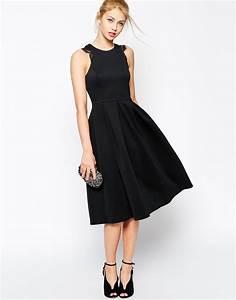 robe noire dentelle mi longue la mode des robes de france With robe mi longue noire