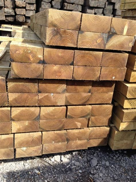 Pine Sleepers by Buy New Pine Sleepers 2400mm X 200mm X 100mm Dorset