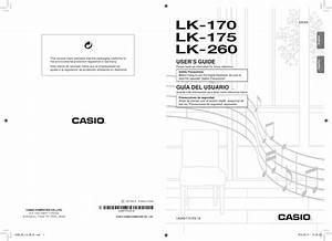 Casio Lk 170 Owners Manual Lk260 175 En