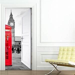 Sticker Londres porte ouverte face au Big Ben 204 x 83 cm Stickers Villes et Voyages Londres