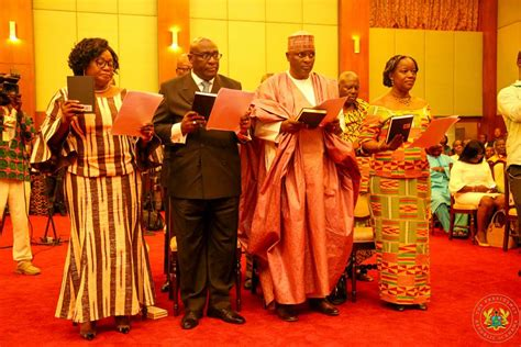 AkufoAddo swears in first batch of ambassadors [Photos]