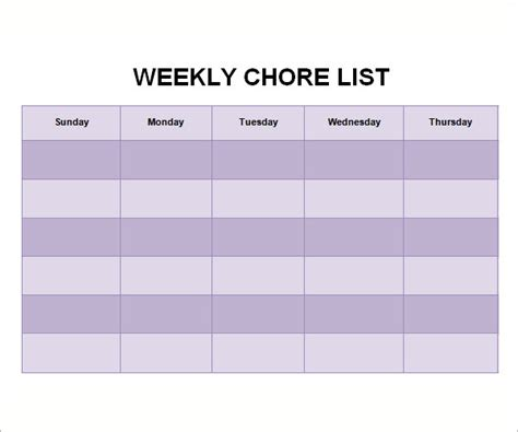 HD wallpapers chore chart template for excel