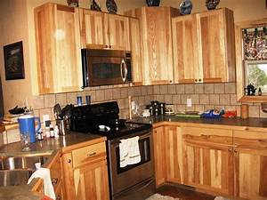 Hickory Kitchen Cabinets Style All Home Ideas Rustic