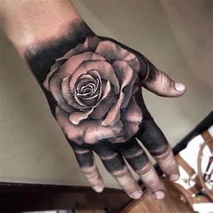 Image Gallery money rose hand tattoo