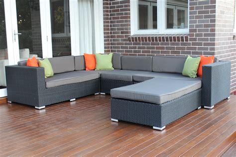 l shape modular outdoor wicker furniture setting outdoor