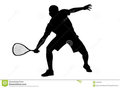 silhouette   squash player stock image image