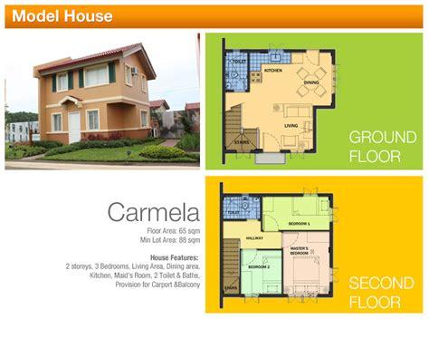 4 bedroom townhouse floor floor plans camella homes tarlac