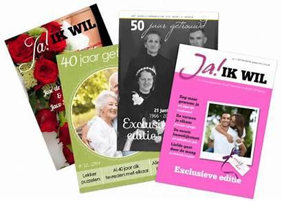 Jilster Huwelijkscadeau Huwelijk Covers Tijdschrift Een Voorbeeld