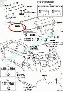 Toyota Corolla 2014 Genuine Weatherstrip  Luggage Compartment Door Nze
