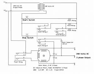 Homemade Rotary Phase Converter Wiring Diagram