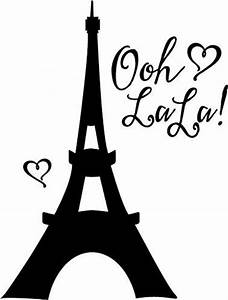 Eiffel Tower Vinyl Wall Decal Large Black Walls With