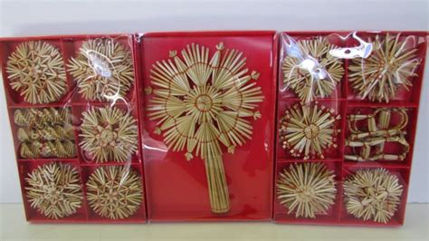 Straw Christmas Ornaments Shop Collectibles Online Daily