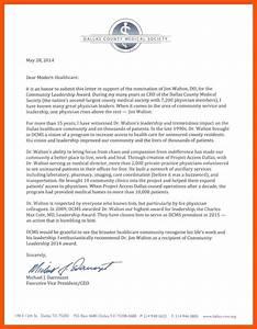 nomination letter letter of support for award nomination With employee of the year award letter