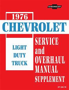1976 Chevy Truck C  K Oem Shop Manual Supplemnt In Paper