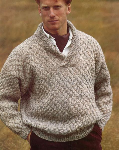 mens patterned sweaters knitting pattern mens sweater jumper size 34in 44in pdf