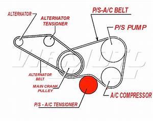 Viamoto Mitsubishi Car Parts Power Steering Tensioner