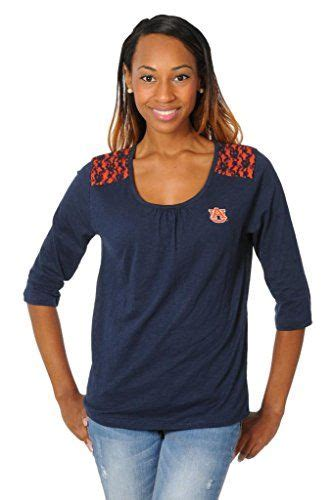 ug apparel womens auburn tigers top  lace large navy