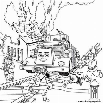 Coloring Thomas Train Flynn Pages Birthday Engine