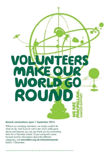 We Accept Nominations For Macmillan Volunteer Awards From