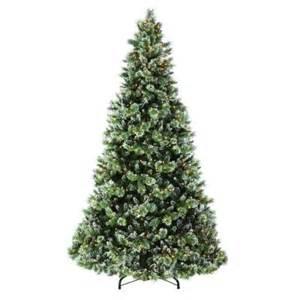 martha stewart living 9 ft indoor pre lit glittery bristle pine artificial christmas tree