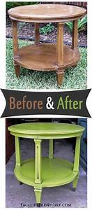 Vintage Möbel Selbstgemacht : vintage end table painted glazed and distressed in lime green and black glaze before and ~ Orissabook.com Haus und Dekorationen