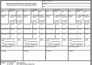 Da 705 Army Physical Fitness Test Scorecard Form Launched
