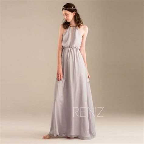 light grey bridesmaid dresses long 2015 light grey halter bridesmaid dress gray wedding