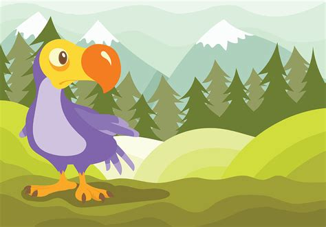 dodo vector background   vector art stock