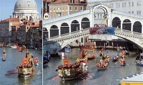 Venice Boat Parade by Venice S Regata Storica Recreates Magnificent Parade Of