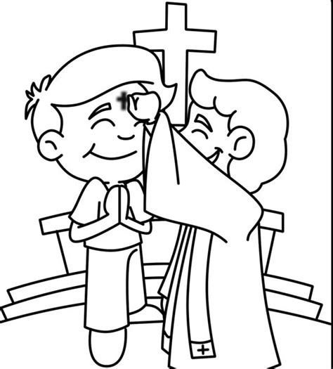 ash wednesday coloring pages  coloring pages  kids