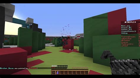 playing super paintball  mineplex minecraft java