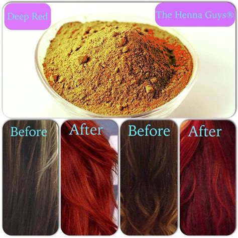 Deep Dark Red Henna Hair Color Dye 100