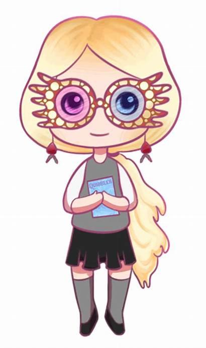 Luna Lovegood Potter Harry Deviantart Drawings Clip