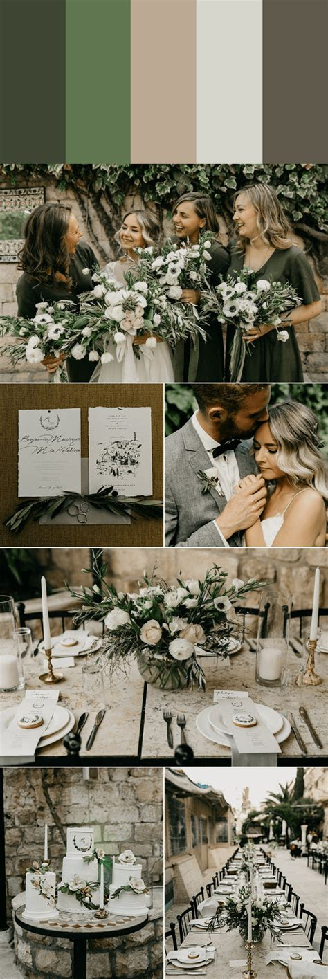 muted wedding color palettes  timeless