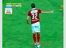 Al Ahly's Ramadan Sobhi stands on the ball v Zamalek, gets