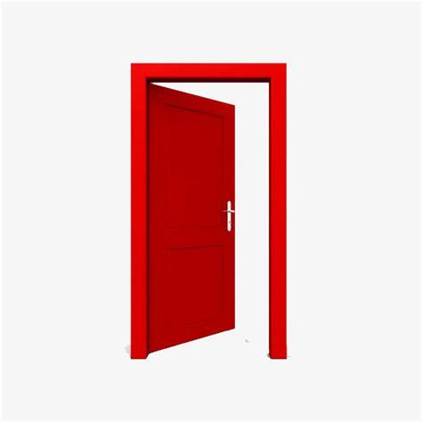 L Ouverture De La Porte Rouge Dessin Une Porte Image PNG pour le téléchargement libre