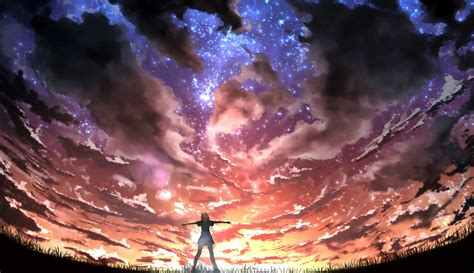 Anime Digital Wallpaper - digital sky anime anime artwork wallpapers