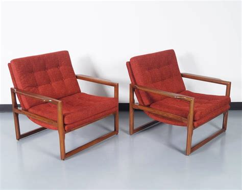 vintage quot cube quot lounge chairs by milo baughman at 1stdibs