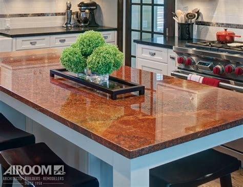 country kitchen highland park il a granite countertop becomes the focal point 8441