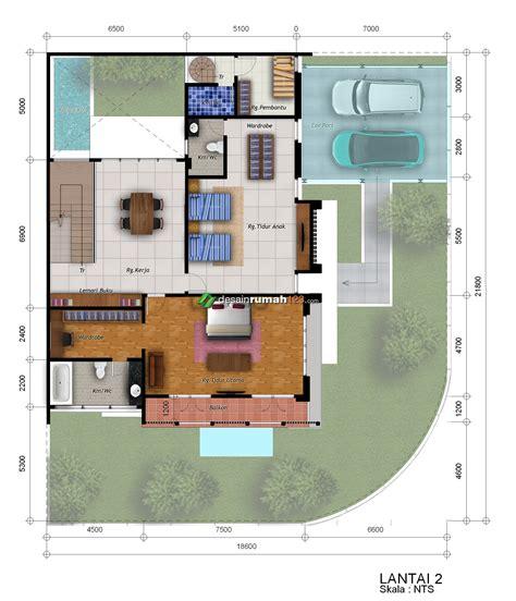 desain rumah hook  lantai  lahan     dr