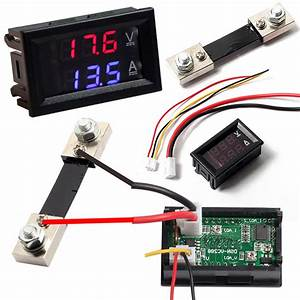 Dual Display Digital Voltmeter Ammeter Blue Red Led Amp
