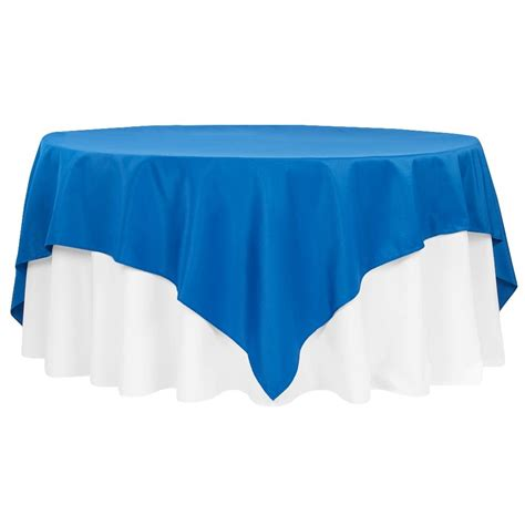 """Economy Polyester Tablecloth 90""""x90"""" Square Royal Blue"""