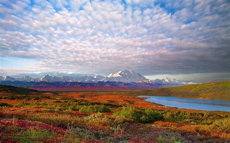 Mountains Clouds Landscapes Denali National Park Wallpaper