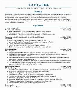 Occupational Therapy Sample Resumes Physical Therapy Aide Resume Sample Resumes Misc