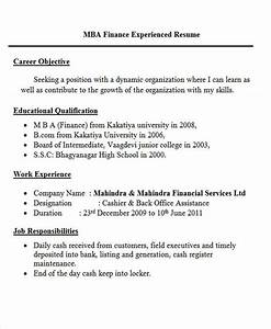 30 fresher resume templates pdf doc free premium With resume format for mba finance experienced