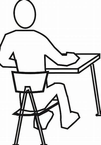 Chair Desk Sitting Drawing Office Counter Standing
