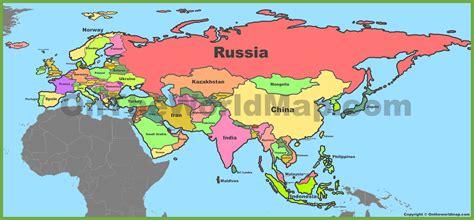 political map  eurasia